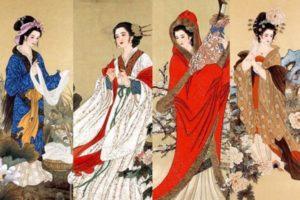 Les quatre beautés de la Chine: Shih Tzu, Wang Zhaojun, Yang Yuhuan, et Diao Chan. (Image: wikimedia / CC0 1.0)