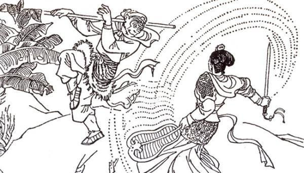 L'un des épisodes les plus appréciés tiré du roman classique chinois 'Pérégrination vers l'ouest' est celui de l'histoire du Roi des Singes et de la Princesse à l'éventail de fer. (Image : Shen Yun Performing Arts)