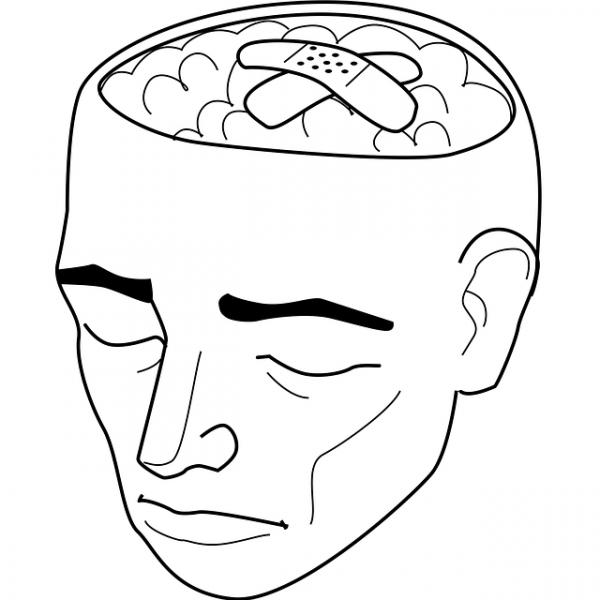 """Bien sûr, il y a des effets indésirables au niveau du cerveau, et des réactions biochimiques qui se produisent lorsqu'une personne se sent dépressive   ; cela arrive tout le temps, mais aucune recherche n'a jamais établi qu'un état cérébral particulier cause, ou même est en corrélation avec la dépression """". (Image : Teeveesee / Pixabay)"""