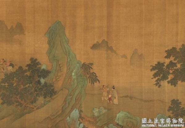 Le roi Yu ouvre la montagne, peint par Zhao Boju, dynastie des Song (960-1279). (lmage : Musée national du Palais, Taipei / @CC BY4.0)