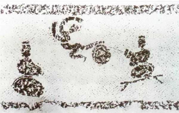 Le football était connu sous le nom de cuju sous la dynastie Zhou en Chine il y a plus de 2 300 ans. (Image: via The Epoch Times)
