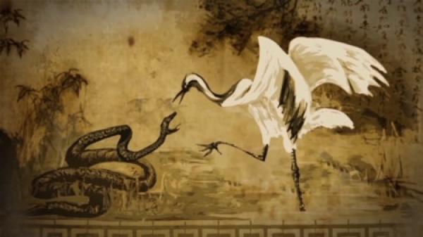 Zhang a développé le Tai-chi après avoir observé un combat entre une grue et un serpent dans les montagnes Wudang. (Image: Screenshot / YouTube)
