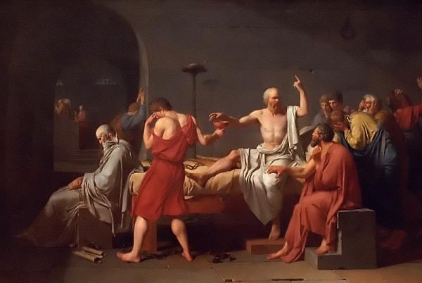 «La mort de Socrate» de Jacques-Louis David.(Image: Rodney via flickr CC BY 2.0 )
