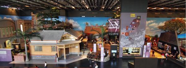 Il y a une vieille rue grandeur nature à la galerie d'exposition permanente du musée. (Image: Musée national d'histoire de Taïwan)