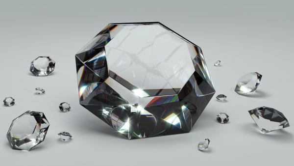Un diamant à votre doigt est probablement constitué de minéraux recyclés, provenant des fonds marins, cuits dans les profondeurs de la Terre. (Image: ColiN00B / Pixabay)