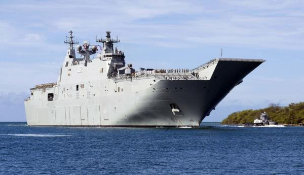 Ce n'est que l'un des nombreux cas d'intimidation vécus par les membres du vaisseau amiral HMAS de la Marine Royale Australienne Canberra. (Image:wikimedia / CC0 1.0 )