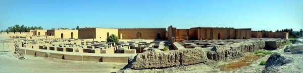 Vue panoramique du palais sud de Nabuchodonosor II, reconstruit , VIe siècle av. J.-C., Babylone, Iraq. (Image: Dr. Osama Shukir Muhammed Amin / Wikimedia)