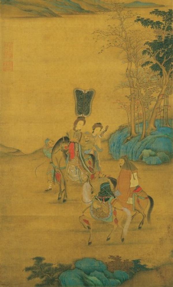 Feng se rendit seule au camp dans la région nord pour rencontrer Wujiutu, qui avait demandé à sa mère de lui envoyer un certain nombre de troupes Xiongnu. (Image : The Epoch Times)