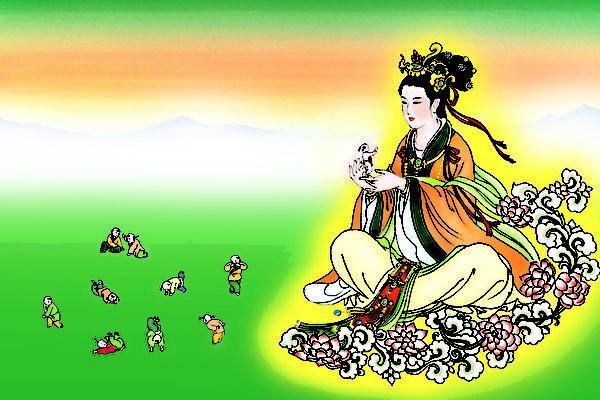 Selon la mythologie chinoise, la déesse Nuwa créa les humains, les sauva de l'effondrement du ciel (Epoch Times)