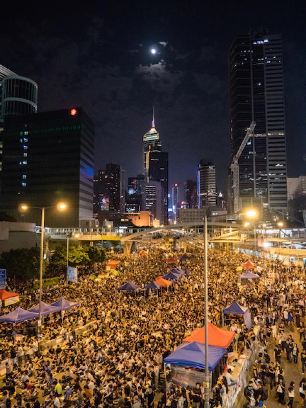 En septembre 2014, Joshua Wong alors âgé de 17 ans, est devenu l'un des leaders de la révolte des parapluies, menée par les militants pro-démocrates. (Photo : Pasu Au Yeung [CC BY-SA 2.0])