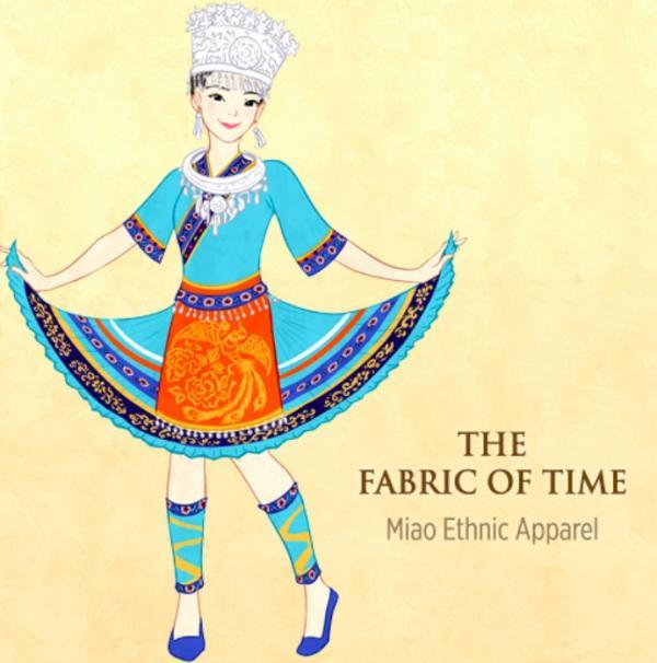 Chaque costume était une véritable une pièce unique, avec des motifs représentant des fleurs, des montagnes, des oiseaux, des villes, ainsi que des êtres mythiques comme des dragons et des phénix (Image: Shen Yun)