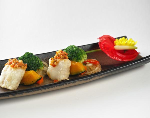 Boule de riz avec citrouille, fleur de brocoli et autres ingrédients frais. (Image : Avec l'aimable autorisation duShi Yang Shan fang)
