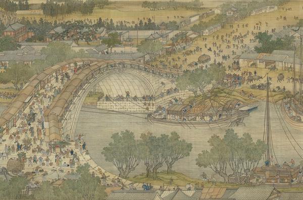 Le long de la rivière, pendant le festival Qing Ming, peint par l'artiste Zhang Zeduan de la dynastie Song (1085-1145 A.C.E) (Image : Shenyunperformingarts.org)