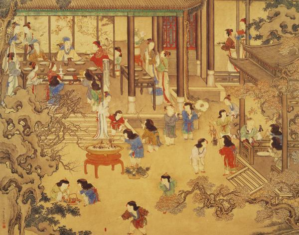 Le réveillon, par YAO Wenhan, Dynastie Qing. (domaine public)