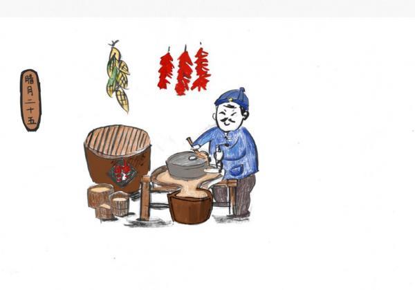 Le 25e jour du mois de La Yue. Préparation du tofu. (Xiaosui)
