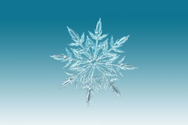 L'eau provenant d'une source produisait des cristaux parfaits et harmonieux.