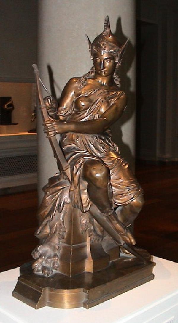 «L'Amazone se prépare à la bataille», Pierre-Eugène-Emile Hébert, 1860. (Image: wikimedia / CC0 1.0)