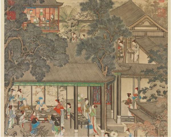 Le réveillon, par YAO Wenhan, Dynastie Qing. (Image : Musée national du Palais, Taipei / @CC BY4.0)