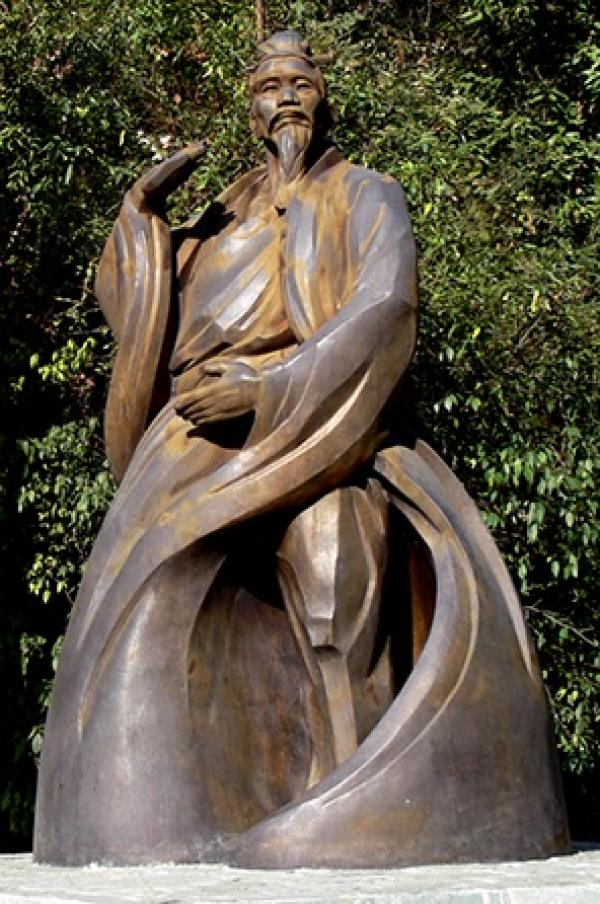 La statue de Zhang Sanfeng aux Monts Wudang