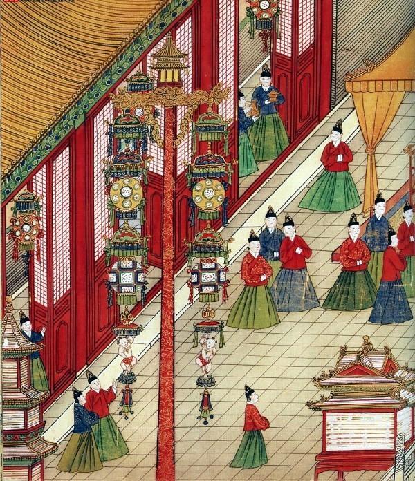 Fête des Lanternes de l'Empereur Ming Xianzong. (Anonyme / Dynastie Ming / domaine public)