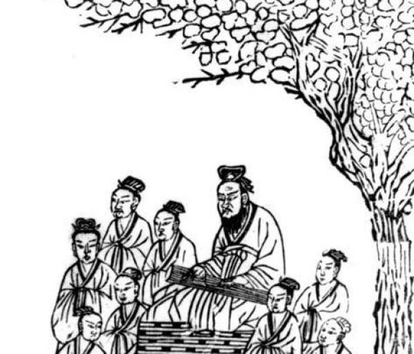 Ancienne estampe chinoise de la dynastie des Sung datant de 1134. Confucius est représenté jouant du luth sous un prunier. Bibliothèque du Congrès, section des estampes et des photographies. (Photo : Shenyunperformingarts.org)