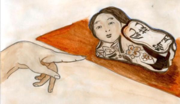Les oreillers en porcelaine étaient considérés comme des attibuts artistiques à la maison et étaient ornés de peintures de plantes, d'animaux, de fleurs, d'enfants, etc. (Image : Capture d'écran / YouTube)