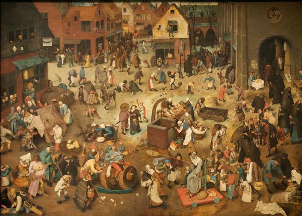 Le combat de Carnaval et Carême - peinture de Peter Brueghel l'Ancien – 1559. (Image : Domaine public / Wikimedia)