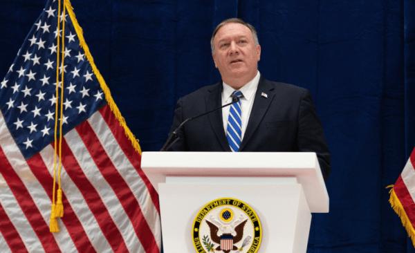 Le secrétaire d'État américain Mike Pompeo a dénoncé la politique de censure du gouvernement chinois. (Image : Département d'État américain / CC0 1.0)