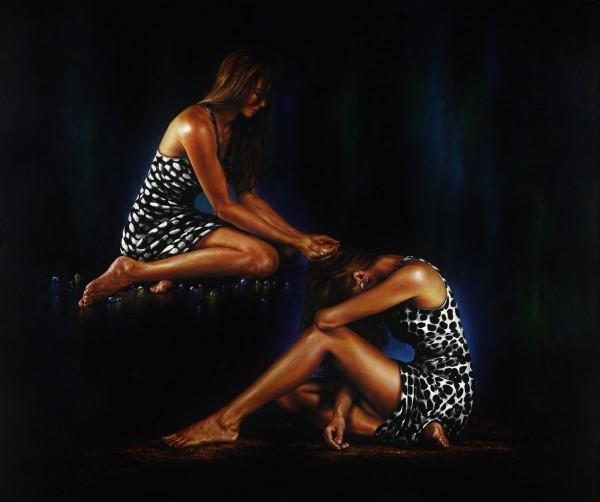 Sur les traces de l'éternité, 2008, par Akiane Kramarik. Acrylique sur toile. (Image : avec l'aimable autorisation d'Akiane Kramarik)