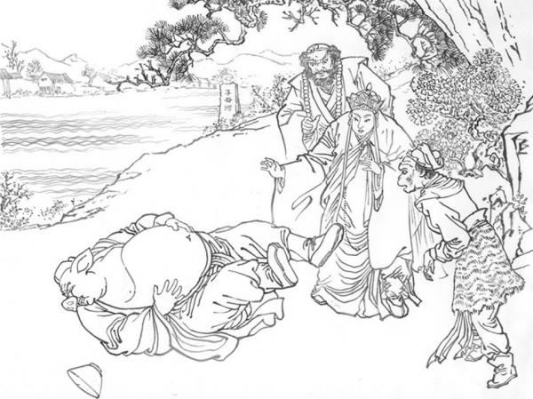 Au cours des Pérégrinations vers l'Ouest, les quatre pèlerins arrivent dans un pays peuplé uniquement de femmes, puis un épisode particulier se déroule... (Image : Shenyunperformingarts.org)