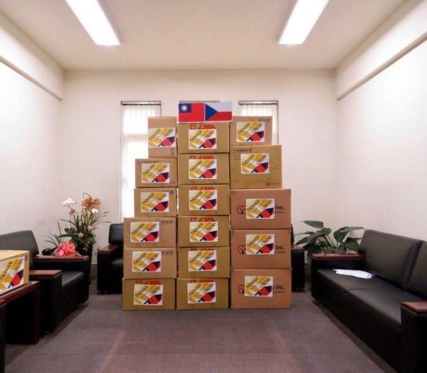Des fournitures médicales données à la République tchèque. (Image : Ministère des Affaires étrangères, Taiwan)