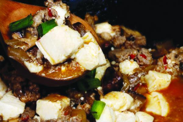 Recette: Ma po to fu - Tofu au bœuf haché épicé