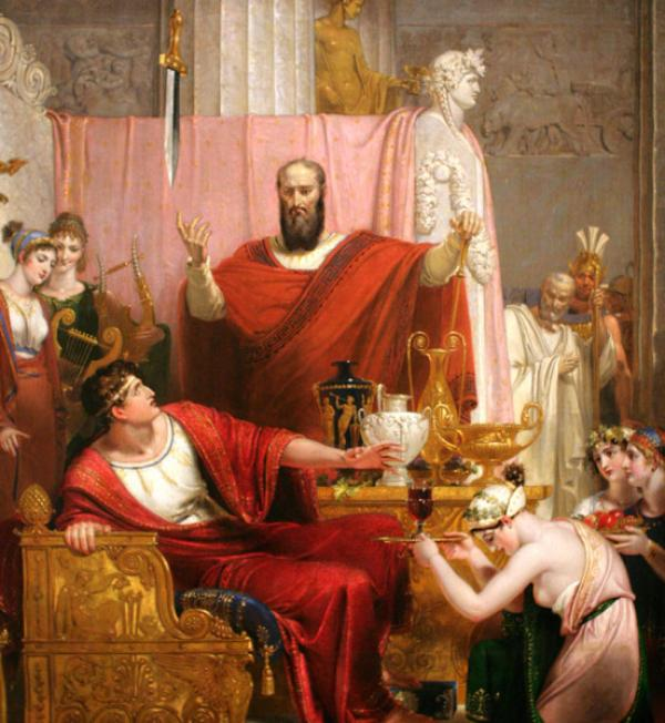 Damoclès fit des commentaires sur le fait que le roi avait de la chance, alors le souverain décida de lui donner une leçon. (Image :wikimedia/CC0 1.0)