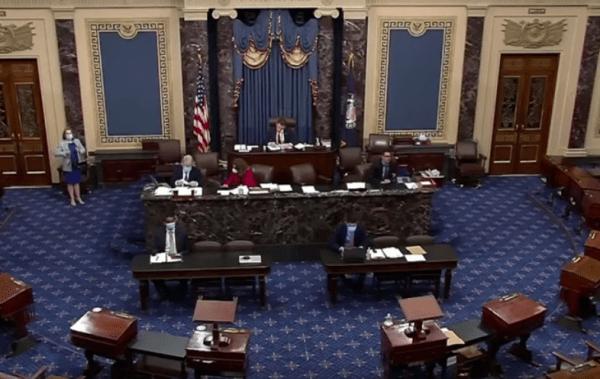 Le Sénat américain le 20 mai 2020, lors de l'adoption du «Holding Foreign Companies Accountable Act». (Image : Capture d'écran / Youtube)