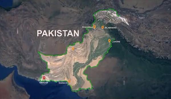 De nouvelles images satellites montrent que la Chine pourrait construire une base navale à Gwadar, une ville portuaire située à l'extrémité occidentale de la côte pakistanaise. (Image : Capture d'écran /YouTube)