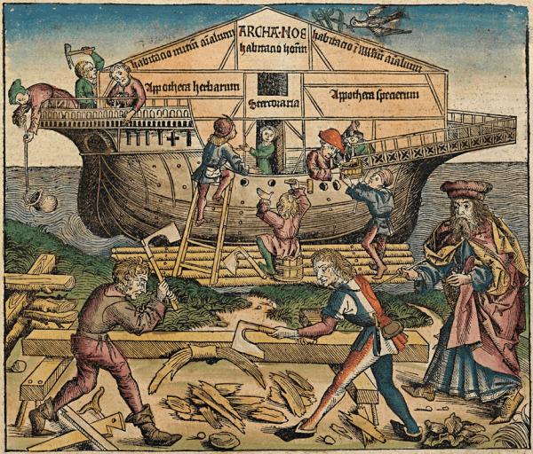 Représentation par un artiste de la construction de l'Arche dansLa Chronique de Nuremberg(1493). L'Arche de Noé été conçue sur la base du nombre d'or. (Image : Wikimedia / Michel Wolgemut, Wilhelm Pleydenwurff/ Domaine public)