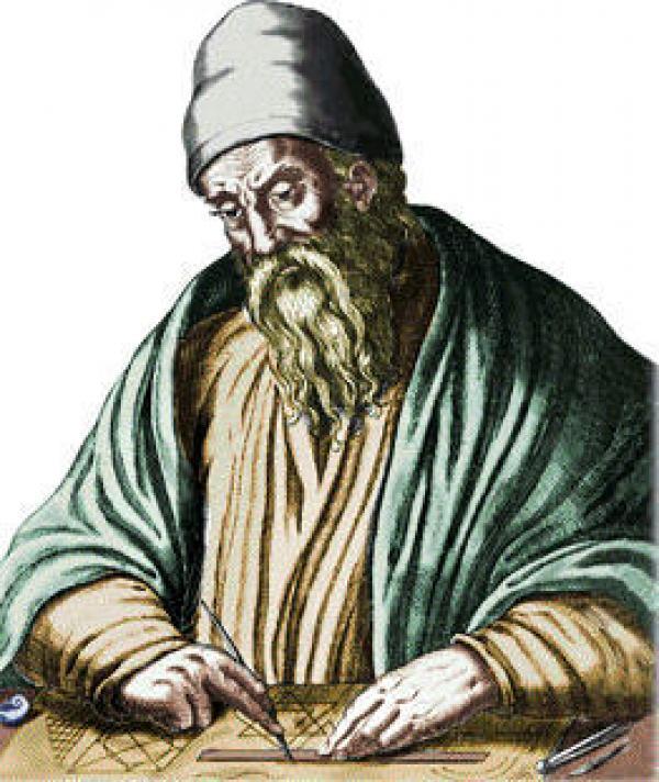 Le mathématicien de la Grèce antique, Euclide (IVe siècle av. J.-C), a transmis la première définition du nombre d'or, ou de la proportion dorée ou divine proportion, dans un oeuvre: Les éléments. (Image : Wikimedia / Domaine public)