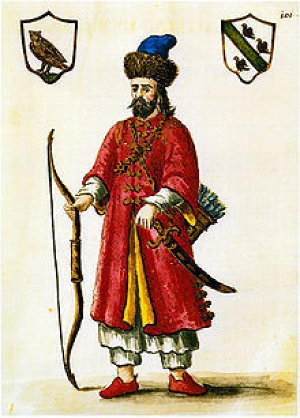 « Marco Polo habillé en Tartare (peinture du XVIIIème siècle Hermanus van Grevenbroeck au Museo Correr de Venise) ». (Image : wikimedia / Domaine public)