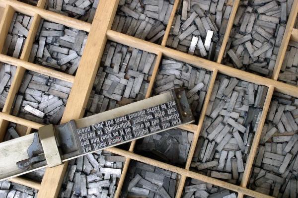Les caractères mobiles (Image : wikimedia / Willi Heidelbach)