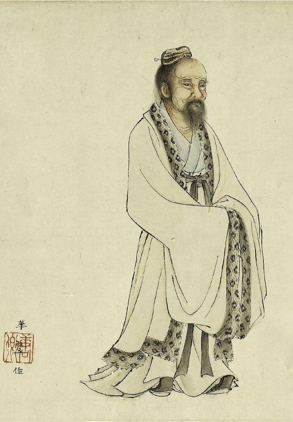 On ne sait que très peu de choses sur Tchouang-tseu (Zhuangzi) qui vécut à l'époque des Royaumes Combattants. Les Annales historiques de Sima Qian rapportent qu'il était originaire du district de Meng (蒙). (Image : Wikimedia / 華祖立 / Domaine public)