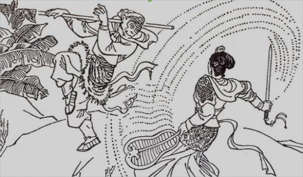 Combat entre la princesse à l'éventail de feu et le Singe. (Photo : Shenyunperformingarts.org)
