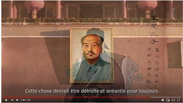 Mao Zedong a voulu détruire la Chine de Confucius pour créer une Chine de Mao. (Image : Capture d'écran / YouTube)