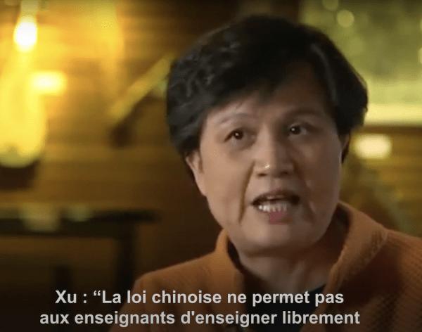 Interview de Xu Lin, Directrice de Hanban, à propos de la liberté académique au sein des IC. (Image : Capture d'écran / YouTube)