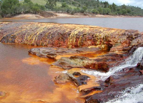 De fortes concentrations d'un produit non réputé toxique (fer, sel par exemple) peuvent faire disparaître la plupart des formes de vie. (Image : Wikimedia / CC0)