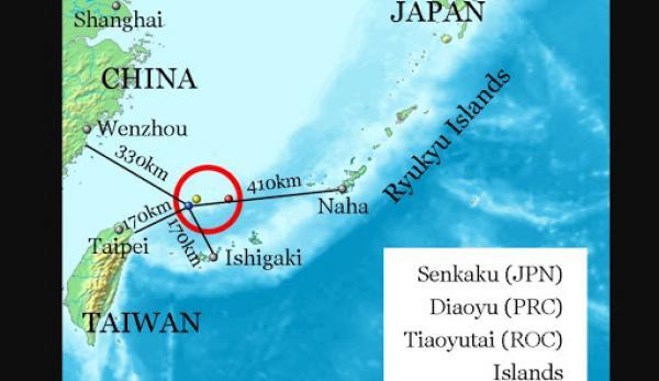 Les États-Unis soutiennent la revendication par le Japon des îles Senkaku. (Image :Wikimedia/GNU FDL)