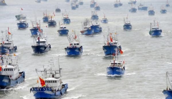 Bien que Pékin affirme que sa flotte de pêche dans les eaux internationale ne compterait que 2 600 navires, les experts soulignent que ce nombre pourrait se monter à environ 17 000. (Image : Capture d'écran / YouTube)