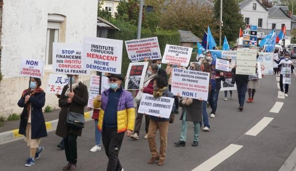 Manifestation contre l'IC. (Image : Avec l'aimable autorisation de Jin Hu)