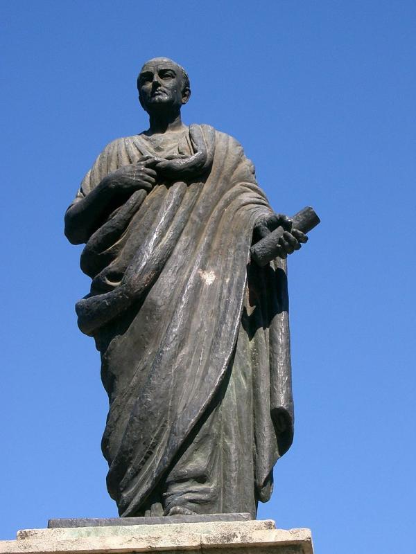 Une statue de Sénèque à Cordoue, en Espagne. (Image : PRA/Wikimedia /CC BY-SA 3.0)