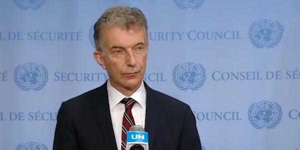 L'ambassadeur allemand Christoph Heusgen s'est exprimé au nom de 39 pays, critiquant la Chine aux Nations unies. (Image : Capture d'écran / YouTube)