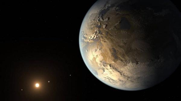 Cette illustration représente Kepler-186f, la première planète de la taille de la Terre validée à orbiter autour d'une étoile éloignée, dans la zone habitable. (Image : NASA Ames / JPL-Caltech / T. Pyle)